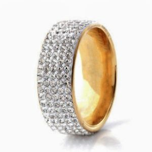 💎Gold Micro Pavè Wide Band Ring💎
